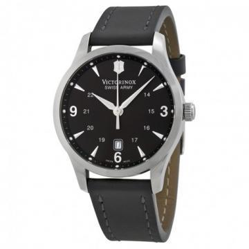Victorinox Infantry Black Dial & Leather Watch