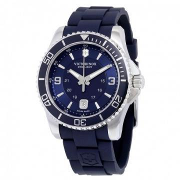 Victorinox Maverick Large Blue Dial & Rubber Watch
