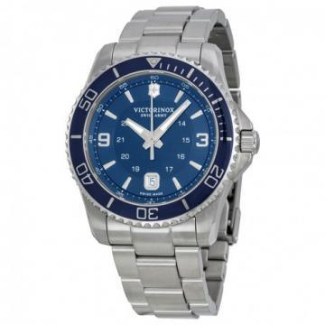 Victorinox Maverick Large Blue Dial Silver Tone Watch