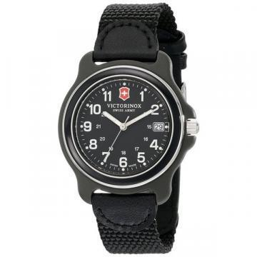 Victorinox Original L All Black Nylon & Leather Watch
