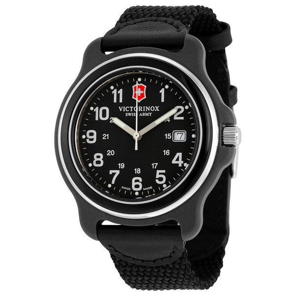 Victorinox Original XL All Black Nylon & Leather Watch