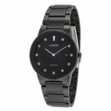 Citizen Eco-Drive Axiom All Black IP 11 Diamonds Watch