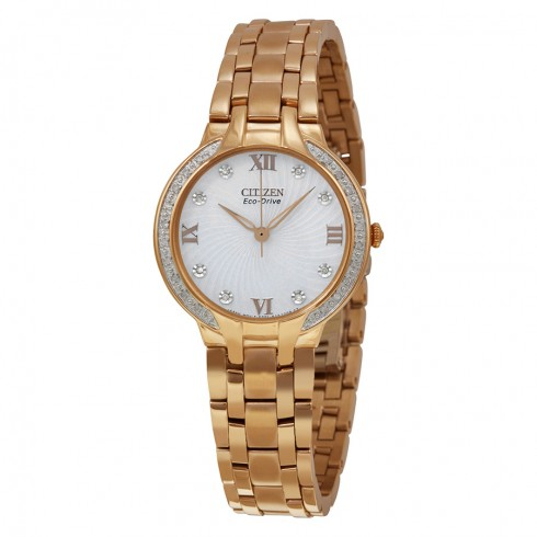 Citizen Eco-Drive Bella Diamond Rose Gold Tone Watch