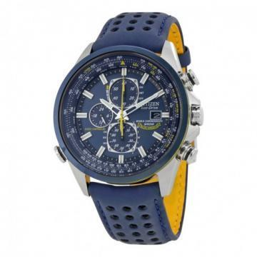 Citizen Eco-Drive Blue Angels World Chronograph A-T Blue Leather Chronograph