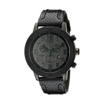 Citizen Eco-Drive BRT Chronograph All Black Leather Chronograph