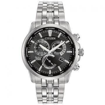 Citizen Eco-Drive Calibre 8700 Silver Tone Chronograph