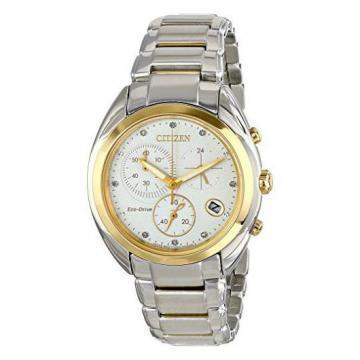 Citizen Eco-Drive Celestial Chronograph 8 Diamonds Two Tone Chronograph