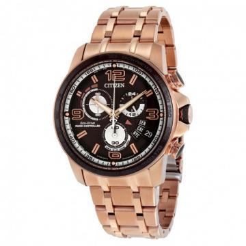 Citizen Eco-Drive Chrono-Time A-T Rose Gold Tone Chronograph