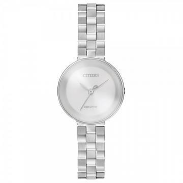 Citizen Eco-Drive L Ambiluna Silver Tone Watch