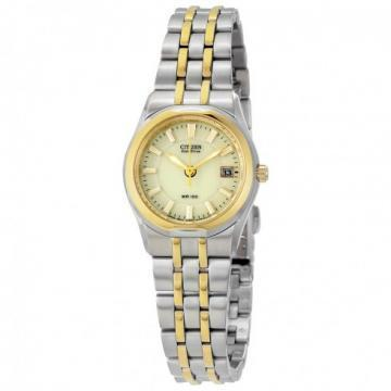 Citizen Eco-Drive Cream Dial Two Tone Bracelet Watch
