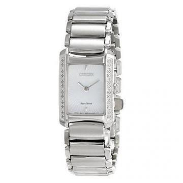 Citizen Eco-Drive Euphoria Silver Tone 24 Diamonds Watch