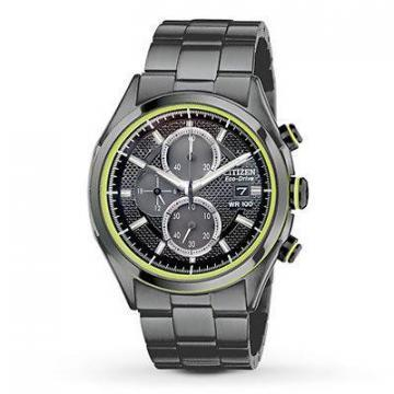 Citizen Eco-Drive HTM Chronograph Black IP Chronograph