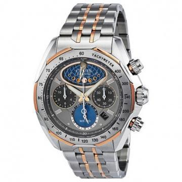 Citizen Eco-Drive Moon Phase Flyback Chrono Silver & Rose Tone