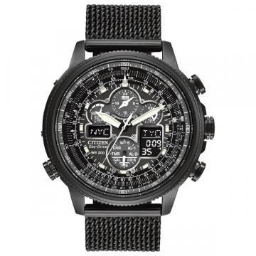 Citizen Eco-Drive Navihawk A-T Black IP Mesh Watch