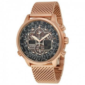 Citizen Eco-Drive Navihawk A-T Rose Gold Tone Mesh Watch