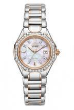 Citizen Eco-Drive Octavia Diamond Mother Of Pearl Two Tone Watch