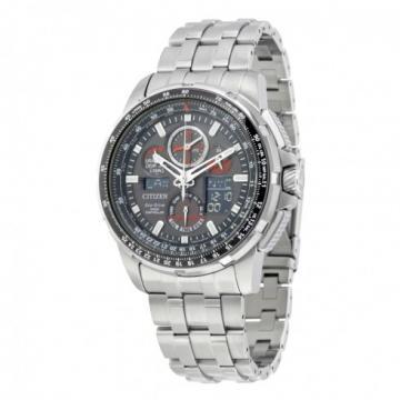 Citizen Eco-Drive Skyhawk A-T Atomic Timekeeping Silver Tone Watch