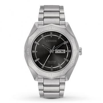 Citizen Eco-Drive Super Titanium Black Dial Watch