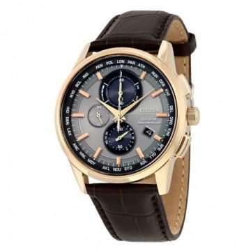 Citizen Eco-Drive World Chronograph A-T Black Leather