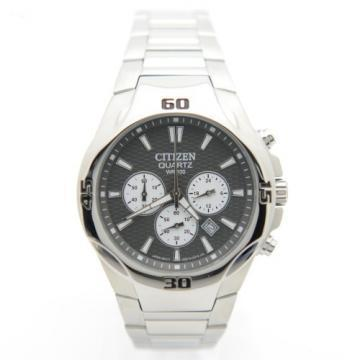 Citizen Quartz Chronograph Gray Dial Silver Tone