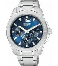 Citizen Quartz Multifunction Blue Dial Silver Tone Watch