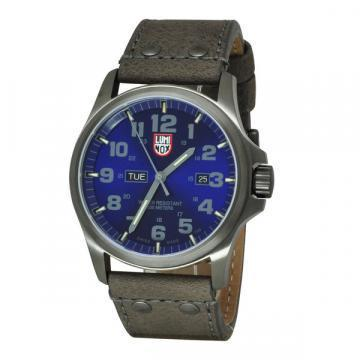 Luminox Atacama Field Day Date Blue Dial Brown Leather Men's Watch