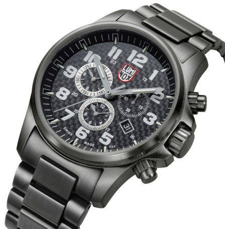 Luminox Land Atacama Field Alarm Chronograph Black Dial Stainless Steel