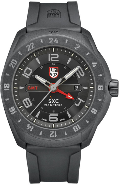 Luminox Land SXC PC CARBON GMT Black Dial Rubber Strap Men's Watch