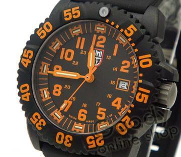 Luminox Navy Seal Colormark Orange Black Rubber Men's Watch
