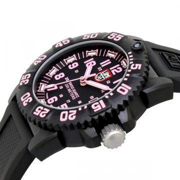 Luminox Navy Seal Colormark Pink And Black Rubber Women's Watch