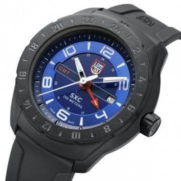 Luminox Space SXC PC CARBON GMT Blue Dial Rubber Strap Men's Watch