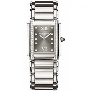 Patek Philippe Stainless Steel Ladies Twenty~4 Eternal Gray Watch
