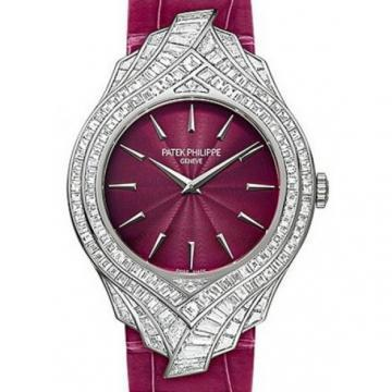 Patek Philippe White Gold Ladies Calatrava Haute Joaillerie Watch