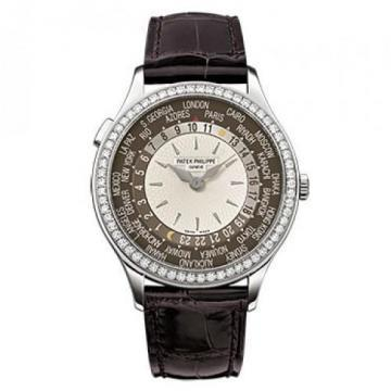 Patek Philippe White Gold Ladies Complications World Time Watch