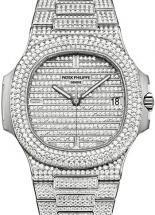 Patek Philippe White Gold Men Nautilus Watch