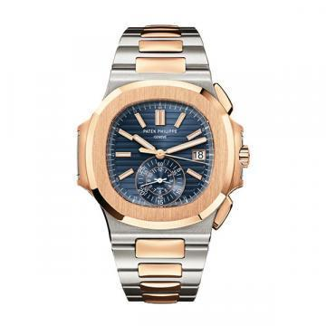 Patek Philippe Stainless Steel and Rose Gold Men Nautilus Chronograph