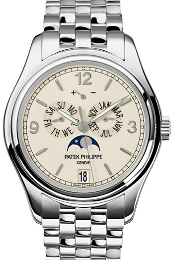 Patek Philippe White Gold Men Complications Watch