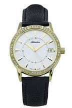 Adriatica Precious Steel Case Leather Bracelet Women's Watch