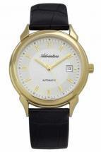 Adriatica Automatic Steel Case PVD Leather Strap Men's Watch
