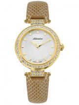 Adriatica Precious Steel Case PVD Leather Strap Women's Watch