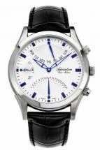 Adriatica Twin Motion Steel Case Leather Strap Chronograph