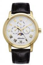 Adriatica Moonphase for Him Steel case PVD Leather strap Men's Watch
