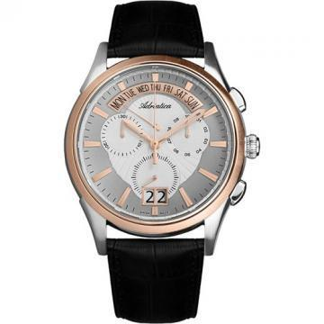 Adriatica Passion Steel Case and Bracelet Rosegold Bicolour Chronograph