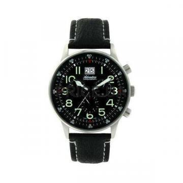 Adriatica Aviation Ronda 5040 Steel Case Leather Strap Watch