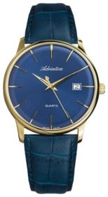 Adriatica Vintage Blue Dial Leather Strap Men's Watch