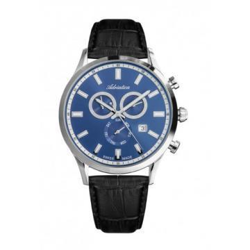 Adriatica Passion Blue Dial Leather Strap Chronograph