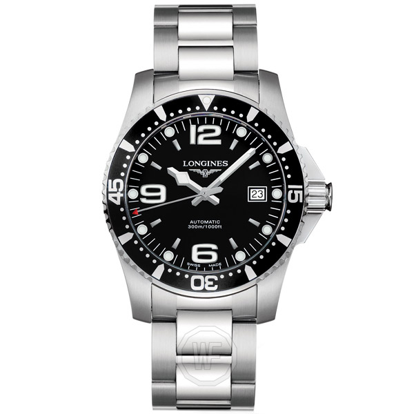 Longines HydroConquest Black Dial Men's Watch