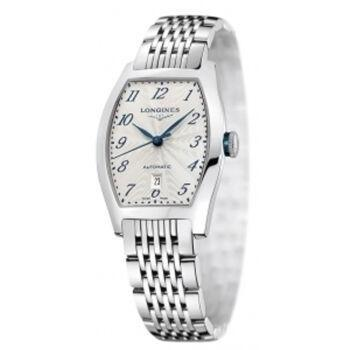Longines Evidenza Silver Gray Tonneau Men's Watch
