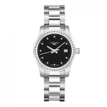 Longines Conquest Black Dial Women's Watch