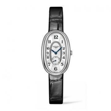 Longines Symphonette Silver Gray Dial Leather Strap Women's Watch
